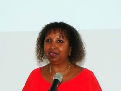 Berührte ihr Publikum mit direkten Worten: Autorin Fadumo Korn sprach in Erlangen über weibliche Genitalbeschneidung.